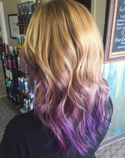 Dirty Blonde with Purple Ends