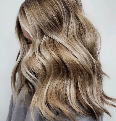 Dirty Blonde Hair with Lowlights