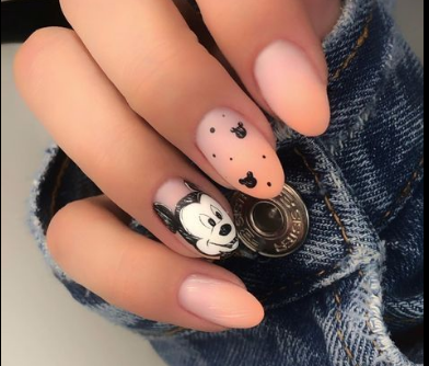 Nudes With Minnie Mouse Nails