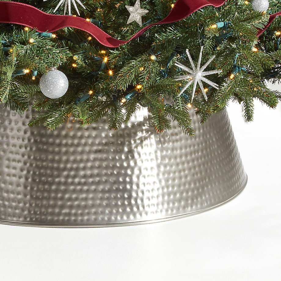 Bash Silver Christmas Tree Collar by Crate And Barrel
