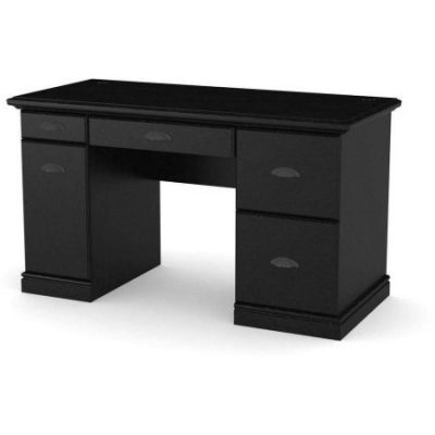 Better Homes and Gardens Desk, Multiple Finishes Black Desk With Drawers
