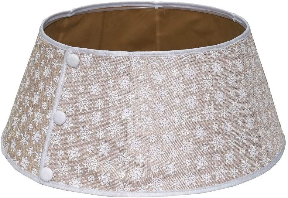 Burlap Christmas Tree Collar by New Traditions