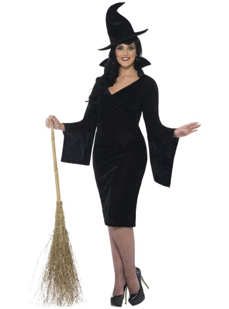 Cute Knee-Length Witch Costume with Bell Sleeves