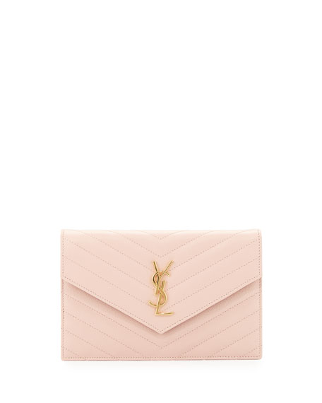 Pink Small Envelope Chain Wallet Bag