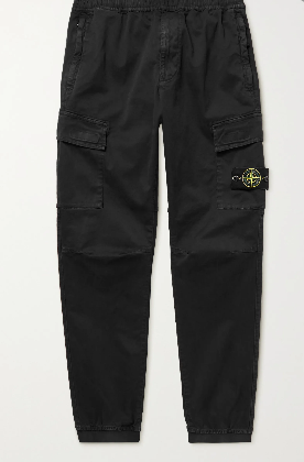 Stone Island Cotton-Blend Cargo Trousers